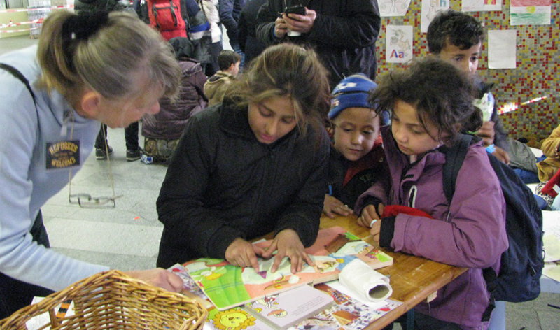 Rosi mit den Kindern